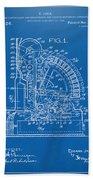 1910 Cash Register Patent Blueprint Bath Towel