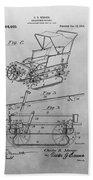 1914 Go Cart Patent Drawing Bath Towel