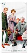1920 - Life Magazine Cover - Engagement - J F Kernan - January 29 - Color Bath Towel