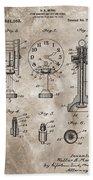 1920 Clock Patent Bath Towel