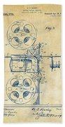 1920 Motion Picture Machine Patent Vintage Bath Towel