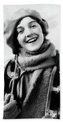 1920s 1930s Smiling Woman Dressed Bath Towel
