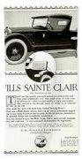 1921 - Wills Sainte Claire Automobile Roadster Advertisement Bath Towel