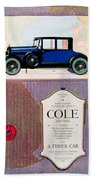 1922 - Cole 890 - Advertisement - Color Bath Towel
