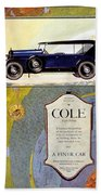 1923 - Cole 890 - Advertisement - Color Bath Towel