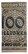 1923 100 Million Mark German Stamp Bath Towel