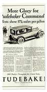 1927 - Studebaker Commander Automobile Advertisement Bath Towel