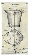 1928 Milk Pail Patent Drawing Bath Towel