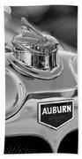 1929 Auburn 8-90 Speedster Hood Ornament 2 Bath Towel