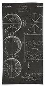 1929 Basketball Patent Artwork - Gray Bath Towel