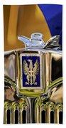 1929 Bianchi S8 Graber Cabriolet Hood Ornament And Emblem Bath Towel