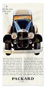 1931 - Packard Automobile Advertisement - Color Bath Towel