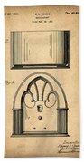 1931 Philco Radio Patent Bath Towel