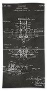 1932 Amphibian Aircraft Patent Gray Bath Towel