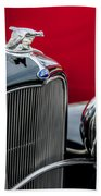 1932 Ford V8 Grille - Hood Ornament Bath Towel