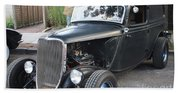 1933 Ford Two Door Sedan Front And Side View Bath Towel