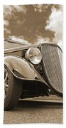 1934 Ford Coupe In Sepia Bath Towel