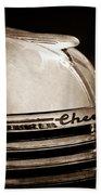 1935 Chevrolet Hood Ornament - Emblem Bath Towel