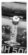 1935 Frazer Nash Tt Replica Shelsley -0223bw Bath Towel