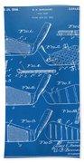 1936 Golf Club Patent Blueprint Bath Towel