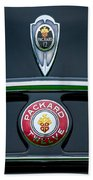 1937 Packard 1508 Twelve Convertible Sedan Emblems Bath Towel