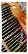 1938 Chevrolet Coupe Grille Emblems Bath Towel