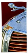 1938 Dodge Ram Hood Ornament 3 Hand Towel