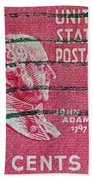 1938 John Adams Stamp Bath Towel