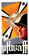 1939 German Luftwaffe Recruiting Poster - Color Bath Towel