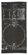 1939 Snare Drum Patent Gray Bath Towel