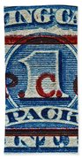 1940-1965 Internal Revenue Playing Cards Stamp Bath Towel
