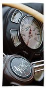 1938 Lincoln-zephyr Continental Cabriolet Steering Wheel Emblem -1817c Bath Towel