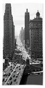 1940s Downtown Skyline Michigan Avenue Bath Towel