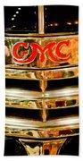 1941 Gmc Suburban Woody Wagon Grille Emblem Bath Towel