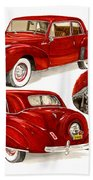 1941 V 12  Lincoln Continental Bath Towel