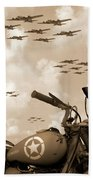 1942 Indian 841 - B-17 Flying Fortress' Bath Towel