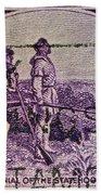 1942 Kentucky Statehood Stamp Bath Towel