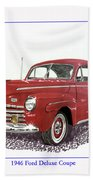 Ford Special Deluxe Coup E  From 1946  Bath Towel