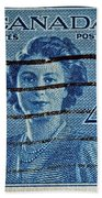 1947 Canada Four Cents Stamp Bath Towel