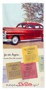 1947 - Desoto Automobile Advertisement - Color Bath Towel