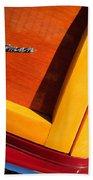 1947 Ford Super Deluxe Sportsman Convertible Taillight Emblem Bath Towel