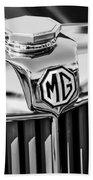 1948 Mg Tc Hood Ornament -767bw Bath Towel