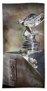 1948 Rolls-royce Hood Ornament - Emblem Bath Towel