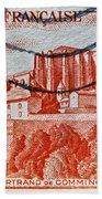 1949 Republique Francaise Stamp Bath Towel