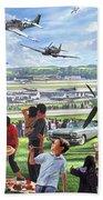 1950 Airshow Bath Towel