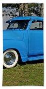 1950 Baby Blue Chevrolet Pu Bath Towel