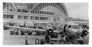 1950s 1960s Propeller Airplane Hand Towel