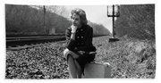 1950s 1960s Woman Sad Worried Facial Bath Towel