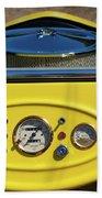 1950s Hot Road Dashboard At Antique Car Bath Towel