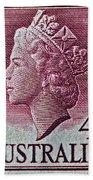 1952-1958 Australia Queen Elizabeth II Stamp Bath Towel